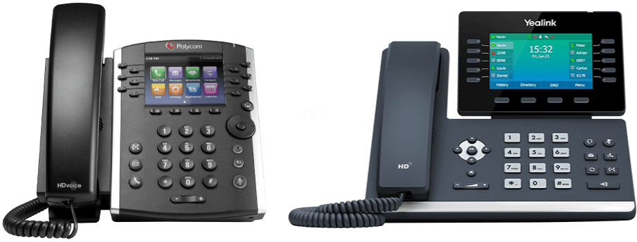 free phone options includes the Yealink T54w phone with metricVOICE from Fastmetrics