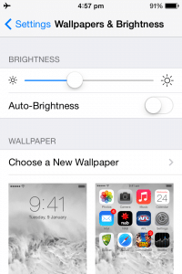 turn iphone auto brightness on