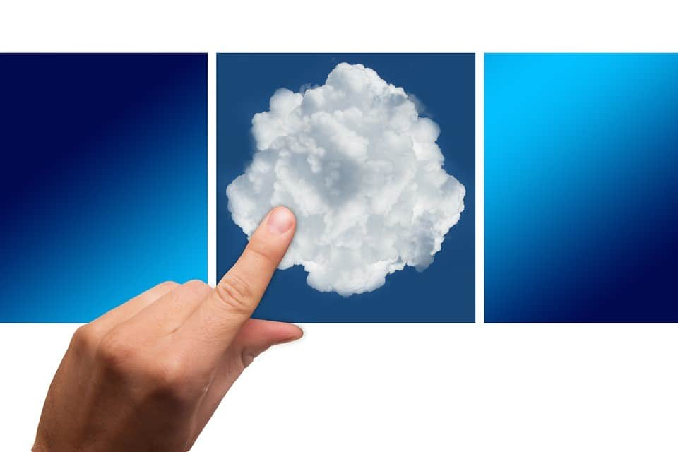 sys admin touching image of cloud