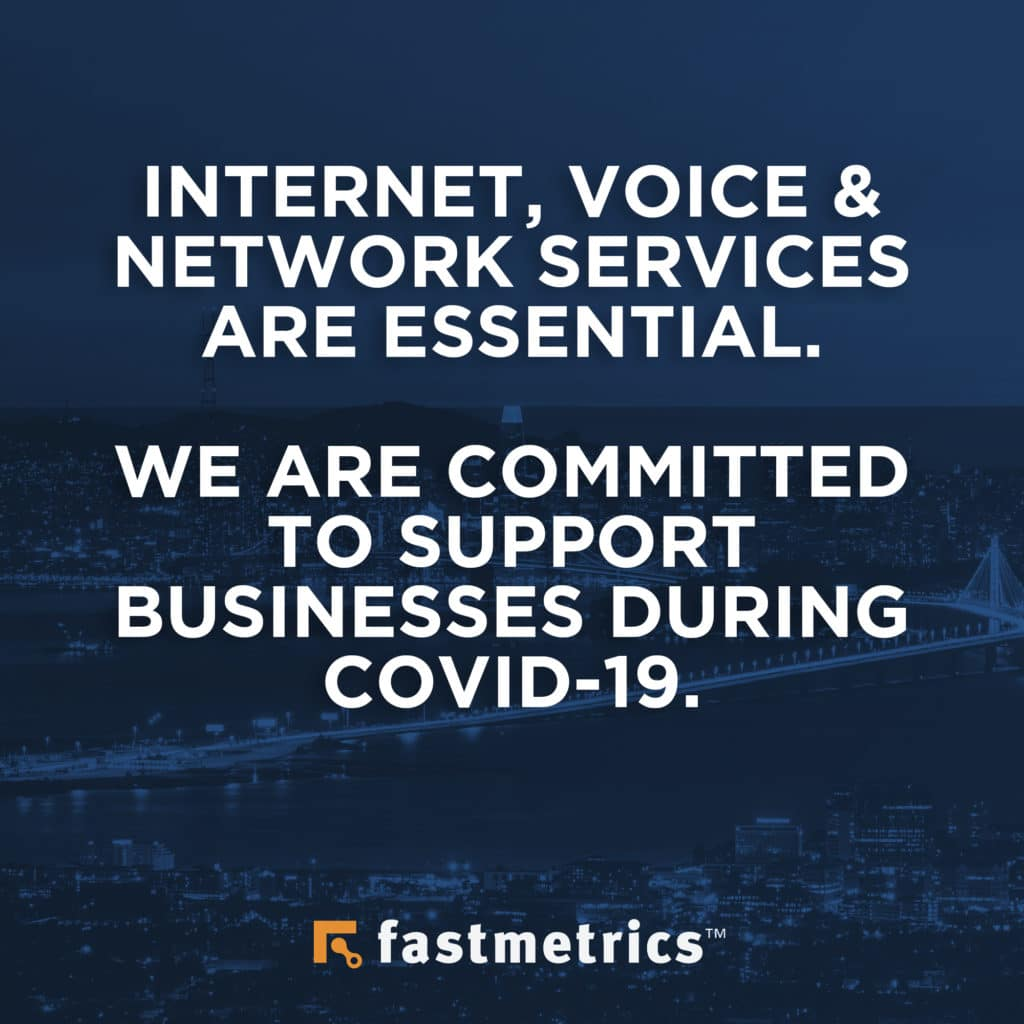 Fastmetrics COVID-19 statement on essential service and support for San Francisco and Californian business