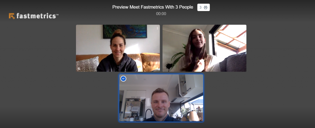 fastmetrics free video call with 3 people preview