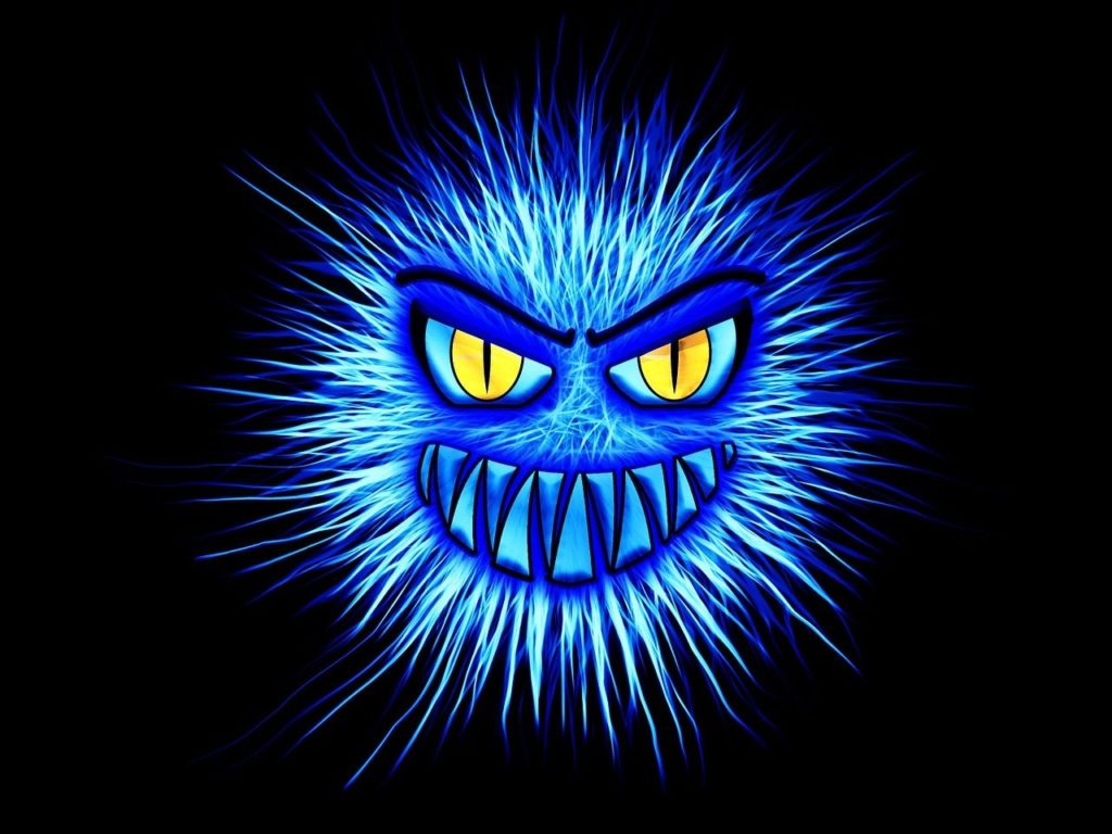 what is a firewall - blue internet attack monster