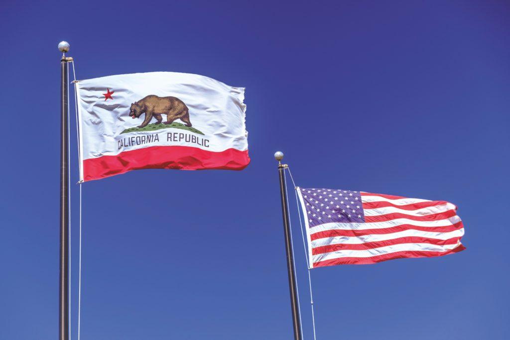 California Republic flag next to USA flag - CCPA info post
