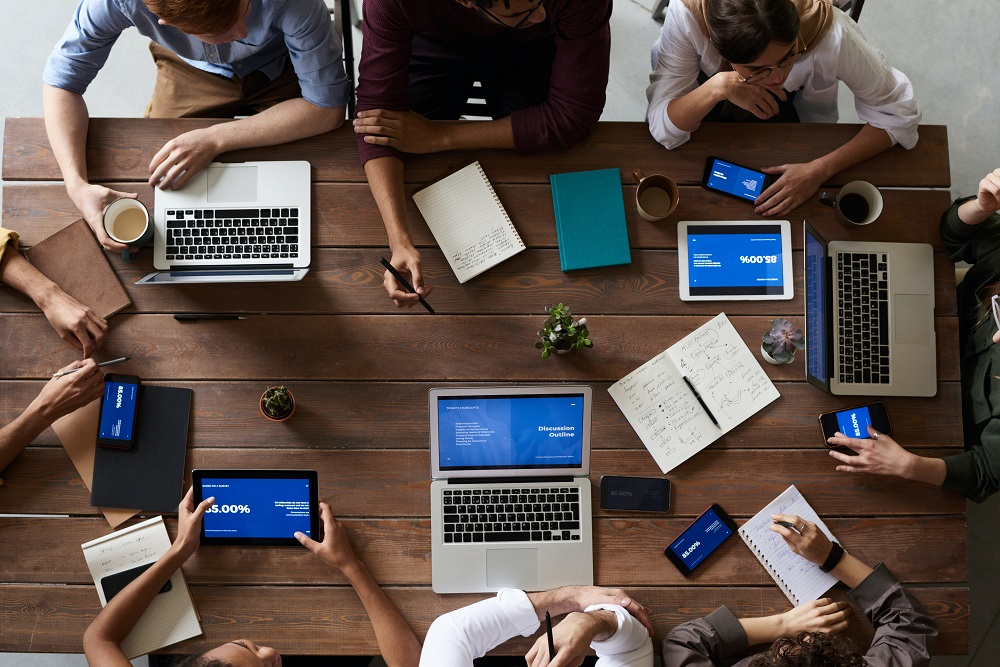 unified communications across devices with team meeting