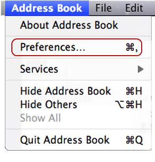 CardDAV Mac 3