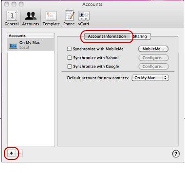 CardDAV Mac 4