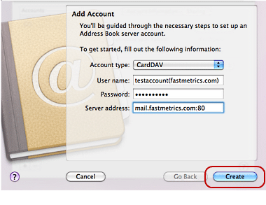 CardDAV Mac 5