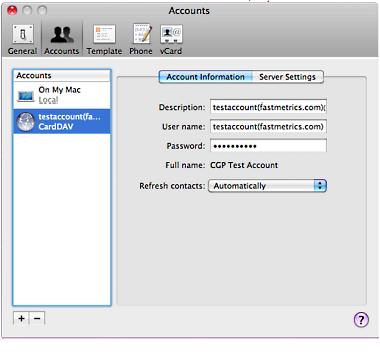 CardDAV Mac 6
