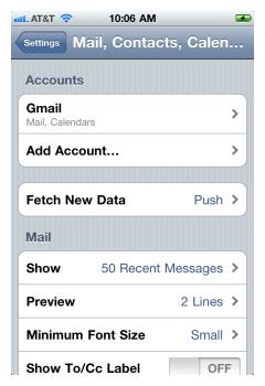 iPhone IMAP 3