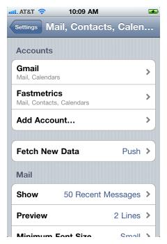 iPhone IMAP 8