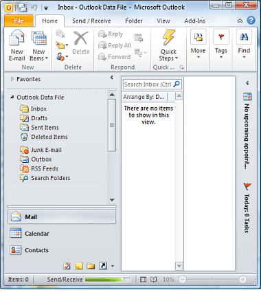 Setup Outlook 2010 3