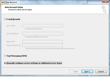 Setup Outlook 2010 6