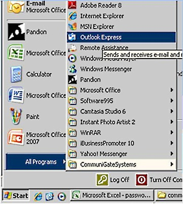 Setup Microsoft Outlook Express 1