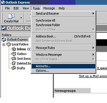 Setup Microsoft Outlook Express 2