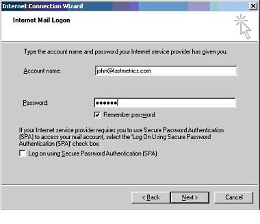 Setup Microsoft Outlook Express 8