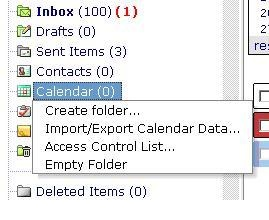 Share Outlook Folders 1